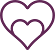 Line drawing heart icon